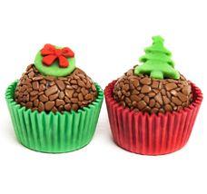 Brigadeiro Clássico Decorado - Natal Brownies, Fondant, Food And Drink, Christmas Decorations, Xmas, Chocolate, Cooking, Cake, Desserts