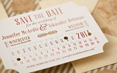 Vintage Train Ticket Save the Date | Suite Paperie #savethedate