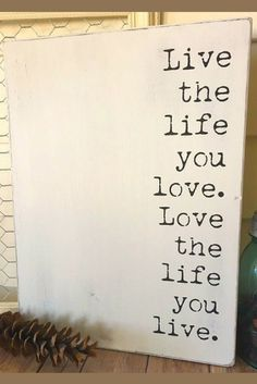 Live the Life You Love. Love the life you live. Wood Sign - Farmhouse Style - Inspirational gift idea, Rustic sign, rustic decor, Farmhouse sign, home decor, farmhouse decor, gallery wall decor #ad