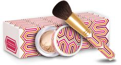 I love the new Bare Minerals limited edition foundation and brush designed by Jonathan Adler. So chic! - @Elaine Madelon