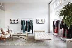 Reformation, the Go-to Clothing Brand for California Cool Girls, Is Opening a Storefront in DC Clothing Store Design, Clothing Racks, California Cool, Brick And Mortar, Cecile, Store Fronts, Reformation, Visual Merchandising, Home Office