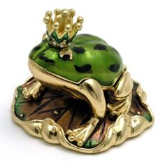 Frog Prince Trinket Box - Frog Prince Trinket Box. This crystal encrusted trinket box is small and dainty and opens up to reveal a special hiding place for small trinkets. Perfect for your most precious...See more »