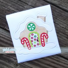 Gingerbread House Applique|Christmas Design