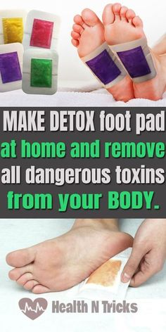 How To Make Detox Foot Pads At Home To Cleanse Your Body Of Toxins #soapinfographic