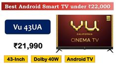 43-Inch IPS Android TV with 40W Soundbar {हिंदी में}   #Vu 43UA   Made i... Tablet Wall Mount, Best Android, Android 9, Latest Gadgets, Best Budget, Smart Tv, Digital Media