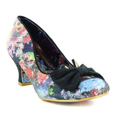 Irregular Choice Dazzle Razzle 4136-04AK Womens Low Court Shoes - Black