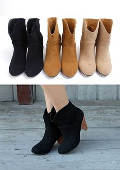 Today's Hot Pick :Cone Heel Ankle Boots http://fashionstylep.com/SFSELFAA0000430/pushpush7023en/out Visiting a close friend after a long time? Look your best with these cone heel ankle boots with cute round toes and a chic pieced design. Easy to wear with their pull-on style. Worn with a nature themed short dress and a knit cardigan, you will have a pretty outfit.
