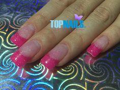 Uñas Acrílicas Francesas y Gel Glitter.(Acrylic Nails French and Glitter Gel) Hazte Fans o Me Gusta  en https://www.facebook.com/topnails.cl  www.topnails.cl☎94243426, saludos Beatriz