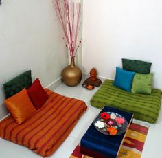 Home decor using fabrics