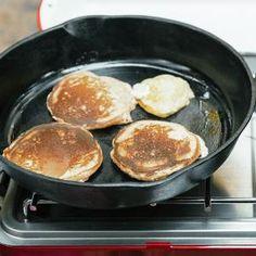 Whole-Grain Lemon-Buttermilk Pancakes with Strawberries   MyRecipes.com