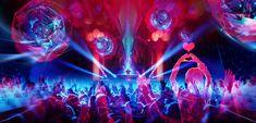 Electronic Music Club Concepts, Ian Boe on ArtStation at https://www.artstation.com/artwork/8E5kQ