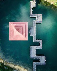 Zig-zag Bridge, Singapore #droneheroes // Photo by @iamkelvinloke