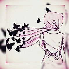 When the only option left is to let go ,, then we should let it go. And just put your truly trust in Allah. Cute Cartoon Girl, Couple Cartoon, Couple Drawings, Disney Drawings, Sad Sketches, Crown Illustration, Sarra Art, Hijab Drawing, Islamic Cartoon