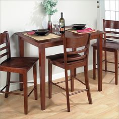 Jofran Counter Height Rectangle Table in Bailey Brown Finish