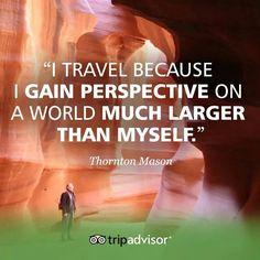 I travel