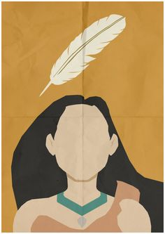 Pochahontas | 28 Minimalist Posters For Your Disney-Themed Nursery