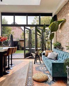 Loft Interior, Patio Interior, Bohemian Interior, Interior Design, Bohemian Decor, Beautiful Space, Beautiful Homes, Home Living Room, Living Spaces