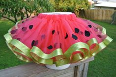 (by galegiegrich on craftster) Watermelon Tutu for 2-year-old. So cute!