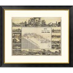 Global Gallery Mapa Historico Pintoresca Moderno de al Isla De Cuba, 1853 by B. y Ca. May Framed Graphic Art Size: