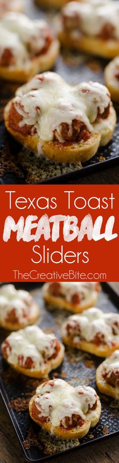 Cheesy Texas Toast Meatball Sliders are an easy and delicious 20 minute weeknight dinner idea with just 4 simple ingredients! Cheesy Texas Toast is topped with Cooked Perfect Italian Style Meatballs, marinara and Provolone for a tasty family-friendly recipe everyone will love. #Ad #Meatballs #Sliders