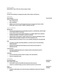 Sample Resume For Recent College Graduate Red  Resume Templates  Pinterest  Sample Resume Resume Examples .