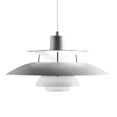 Louis Poulsen PH 5 pendant;  In Denmark almost every other home has a PH5 pendant