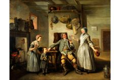 New acquisitions for The Bowes Museum (March 2014) | The Bowes Museum acquires two paintings by Johan Zoffany commissioned by Garick in 1762: 1) David Garrick and Mrs Cibber as Jaffier and Belvidera in 'Venice Preserv'd' and 2) David Garrick and Mary Bradshaw in David Garrick's 'The Farmer's Return' (shown here).