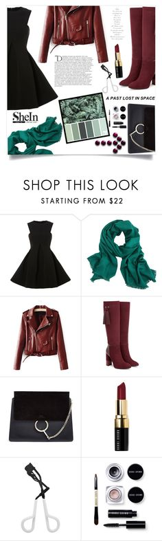 """""""Brave Soul"""" by violet-peach ❤ liked on Polyvore featuring Aquatalia by Marvin K., Chloé, Bobbi Brown Cosmetics, Tweezerman and Balmain"""
