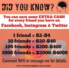 Earn extra cash by referring to friends. Earn Extra Cash, Earn Money Online, Did You Know, Knowing You, Messages, App, Credit Cards, Foundation, Forget