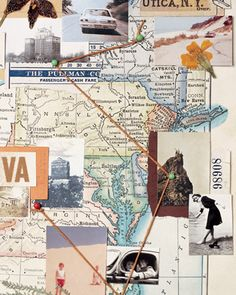 No Photos? Use maps and postcards to illustrate where ancestors lived.