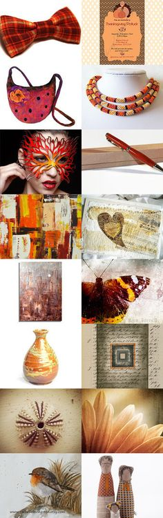 Simply an orange weekend by Tronell on Etsy--Pinned with TreasuryPin.com  https://www.etsy.com/shop/LaVieBoeretroos