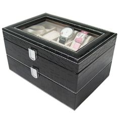 Aliexpress.com : Buy 2015 Luxury Brand PU Leather Watch Display Box Double layer 20 Grid Watch Case Jewelry Storage Organizer Discount Promotion from Reliable watch design star online suppliers on Original Brand Watch Mall | Alibaba Group