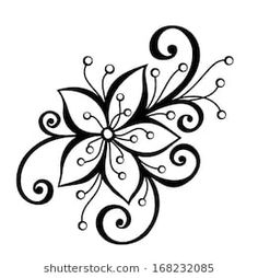Embroidery Designs For Big Shot Flower Dies White Flower Tattoos, Black White Tattoos, Embroidery Designs, Hand Embroidery, Flower Embroidery, Embroidery Stitches, Flower Pattern Design, Flower Patterns, Flower Design Drawing