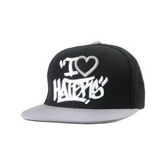 16978912da4 DGK Tag I Love Haters Black Grey Snapback Hat ( 30) ❤ liked on Polyvore