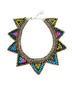 Diy: Collar babero étnico / azteca con cierre de nudos correrizos (Patrón gratis)
