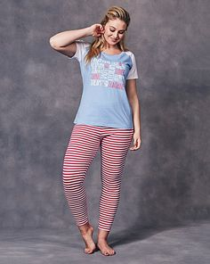1ae8a615f0201 Buy Pretty Secrets Leggings Pajama Set from SimplyBe US Site. Simply Be · Plus  Size Nightwear