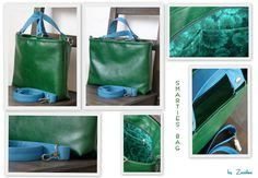 Smarties bag in green and blue