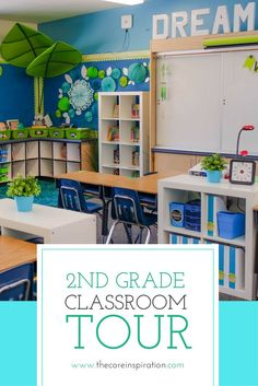 A detailed tour of every corner of this nature-themed second grade classroom. This classroom theme celebrates nature and its cool, calming colors while incorporating spaces that provide flow and function throughout the school day. This is a learning envir