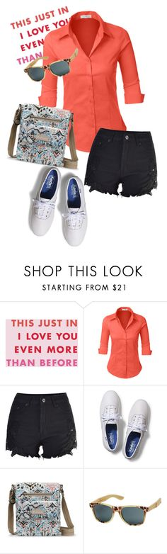 """""""bag"""" by masayuki4499 ❤ liked on Polyvore featuring INC International Concepts, LE3NO, Keds and Sakroots"""