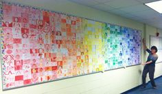 Look what we did on the first day of school! -Ok, if I had a class still, I'd definately do this! How fun!!