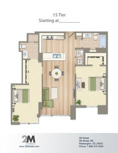 Floor Plans And Pricing Apartments Bedrooms And Condos - 3 bedroom apartments washington dc