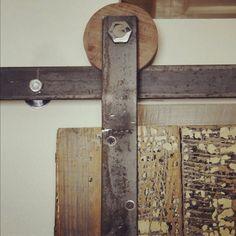 #DIY door track tutorial on how to make your own sliding door track hardware: lynneknowlton.com