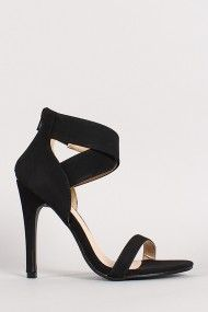 Lupid-4 Nubuck Ankle Strap Open Toe Heel