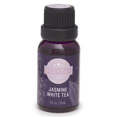 Jasmine White Tea 100% Natural Oil -  Long revered for its romantic leanings, jasmine sets a sensual mood while lemongrass, mandarin and bergamot softly brighten the edges.