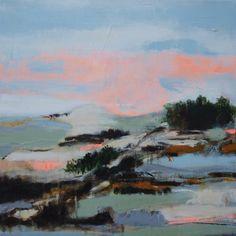Tina Kolding Akrylmaleri - Landskab