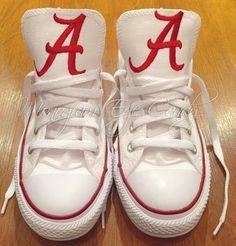 Customized Converse Sneakers- Alabama Edition
