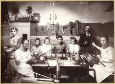 From a knitting machine virtual museum. A family business circa 1920