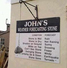 Weather forecasting stone!    More on:    http://igg.me/p/179226?a=901297  http://www.its-hilarious.com/  http://itunes.apple.com/us/app/funny-hilarious-jokes/id492166165?ls=1=8