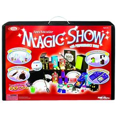The Stupendous Hocus Pocus Magic Show and thousands more of the very best toys at Fat Brain Toys. 100 Tricks begin! Amaze family and friends as the ultimate magician! The Deluxe 100 Trick Magic Suitcase includes a magic hat, m. Best Christmas Toys, Christmas Gifts, Christmas 2016, Kids Christmas, Hocus Pocus Magic, Tween Boy Gifts, Kids Gifts, Cool Gifts, Best Gifts