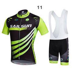 Fashion Short Sleeve Mens Team Cycling Jersey Set Bib ShortsPants Quick Dry      Read a65471d7f